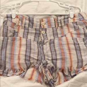 rare free people striped shorts